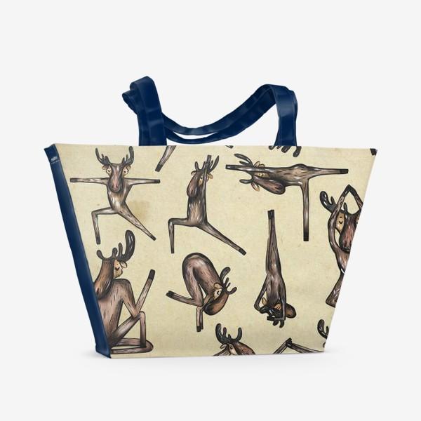 Пляжная сумка «Йога»