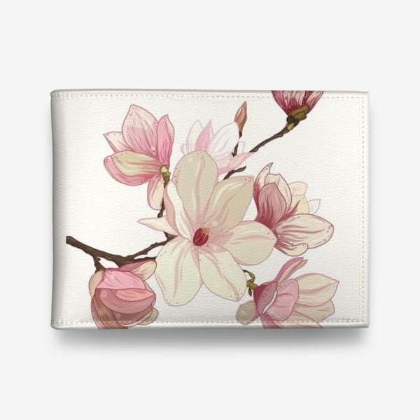 Кошелек «Цветы магнолии. Нежные и прекрасные.»