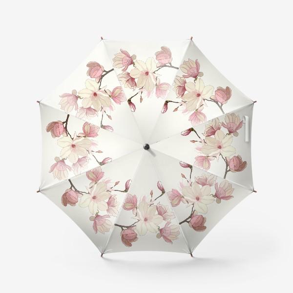 Зонт «Цветы магнолии. Нежные и прекрасные.»