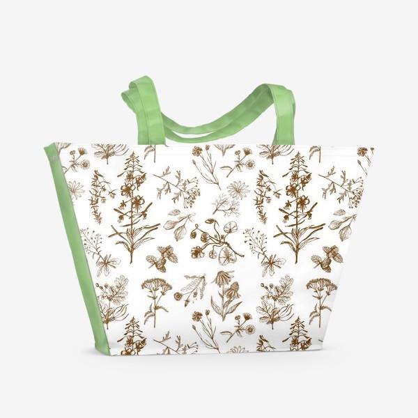 Пляжная сумка «Летние полезные травы»