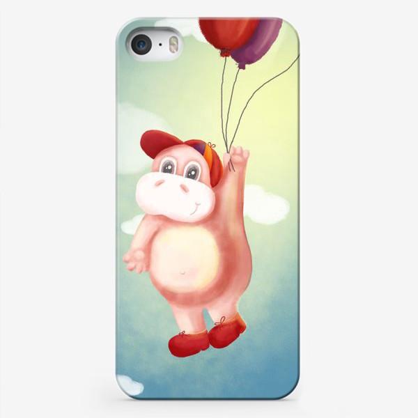 Чехол iPhone «Бегемот с шариками»