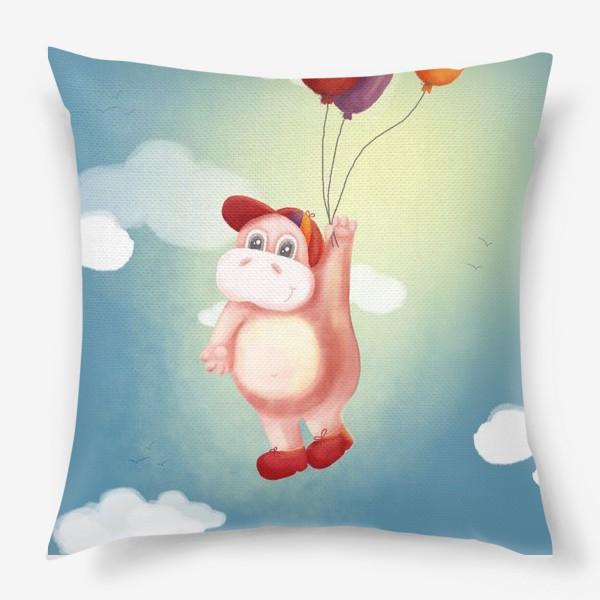 Подушка «Бегемот с шариками»