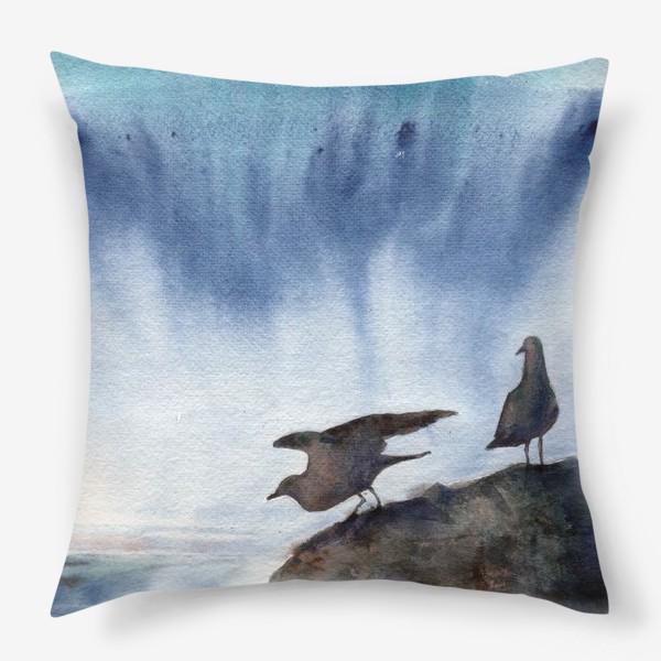 Подушка «Две чайки.»
