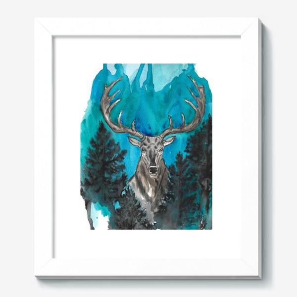Картина «Олень с большими рогами»