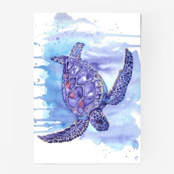 Постер «Черепаха в океане»
