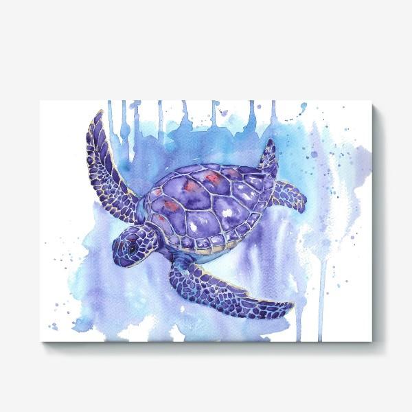 Холст «Черепаха в океане»