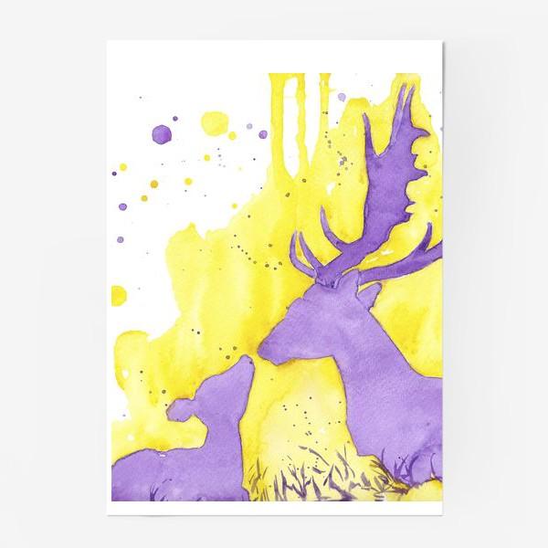 Постер «Поцелуй оленёнка»