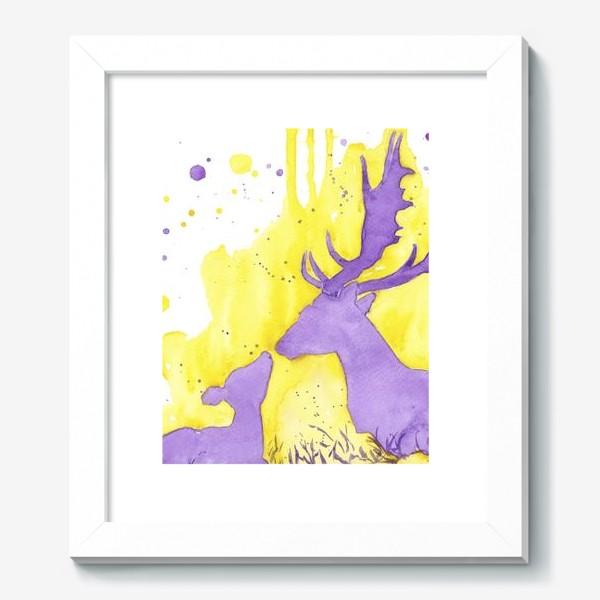 Картина «Поцелуй оленёнка»
