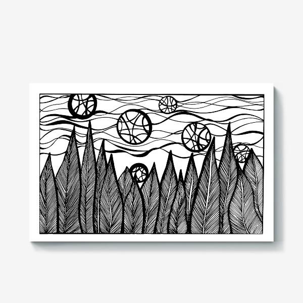 Холст «Космический лес»