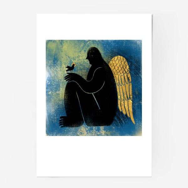 Постер «Ангел с птичкой»