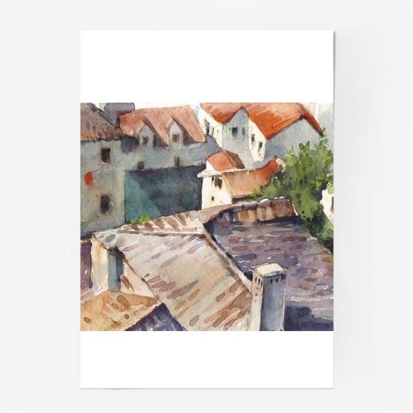 Постер «Крыши старого города. Котор. Черногорская серия.»