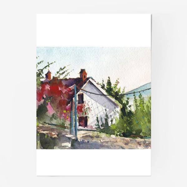 Постер «Домик в цветах. Черногорская серия.»