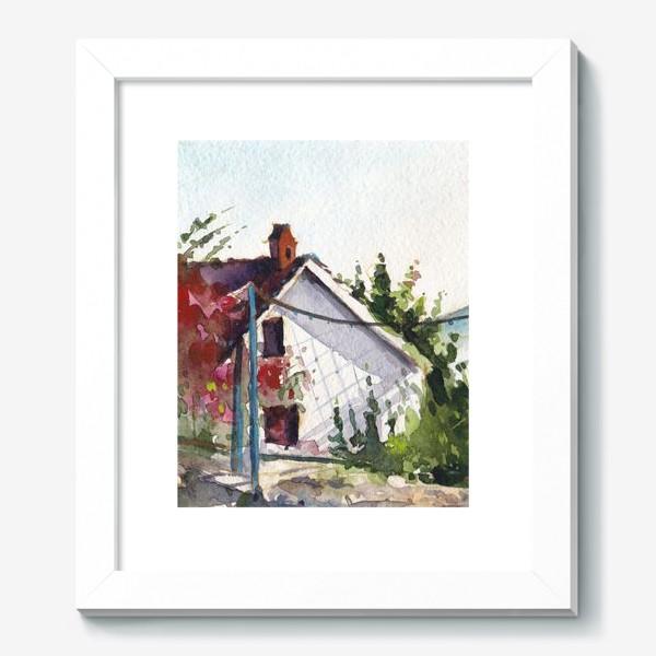 Картина «Домик в цветах. Черногорская серия.»