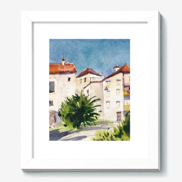 Картина «Дворик в старом городе. Лето в Будве. Черногорская серия. »