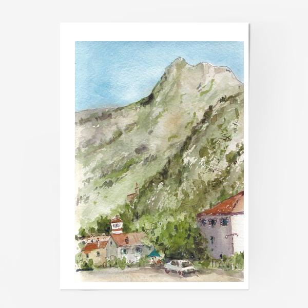 Постер «Город под горой. Котор. Черногорская серия. »