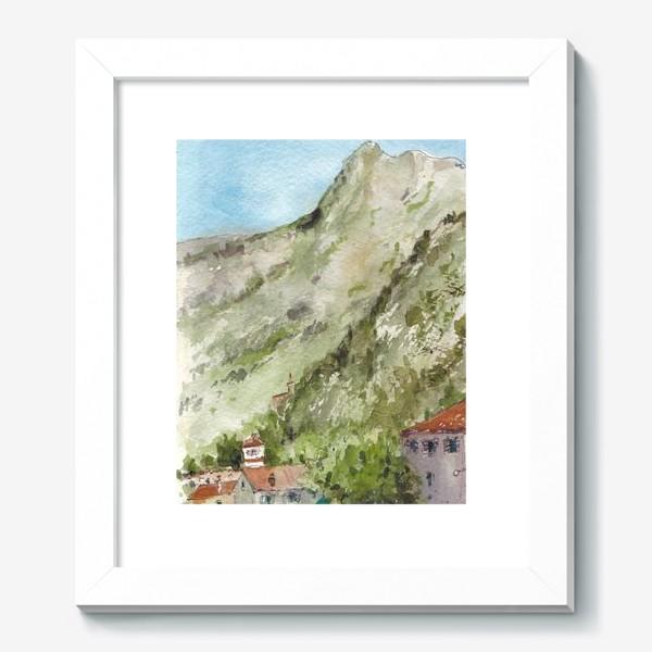 Картина «Город под горой. Котор. Черногорская серия. »