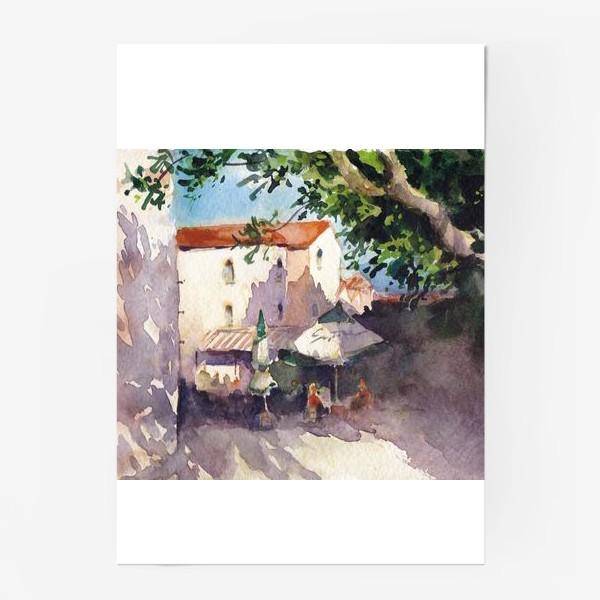 Постер «Летний пейзаж. Летнее кафе, Черногорская серия. »