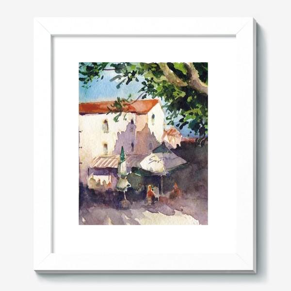 Картина «Летний пейзаж. Летнее кафе, Черногорская серия. »