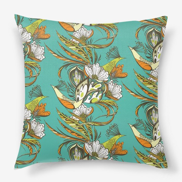 Подушка «Райские птицы»