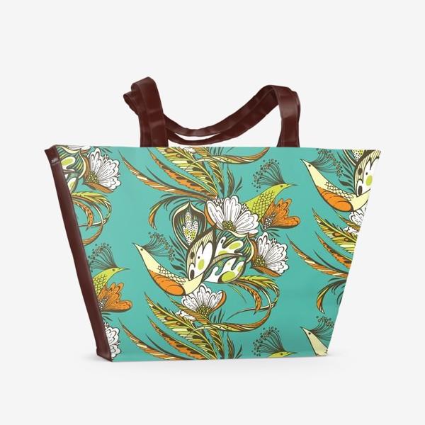Пляжная сумка «Райские птицы»