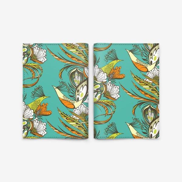 Обложка для паспорта «Райские птицы»