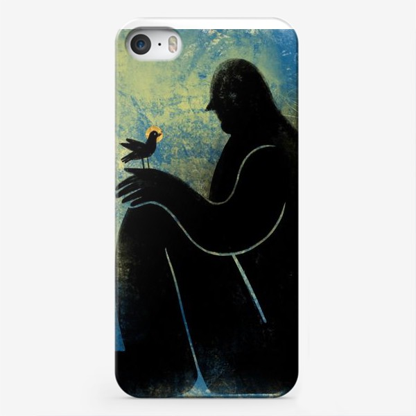 Чехол iPhone «Ангел с птичкой»