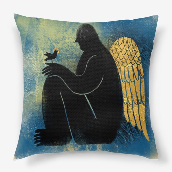 Подушка «Ангел с птичкой»