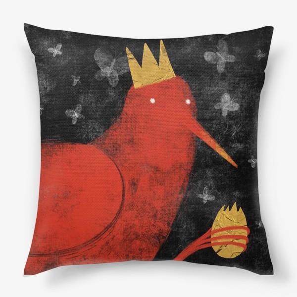Подушка «Птица в короне»