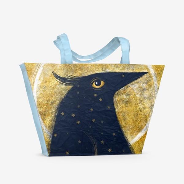 Пляжная сумка «Космо-птица»