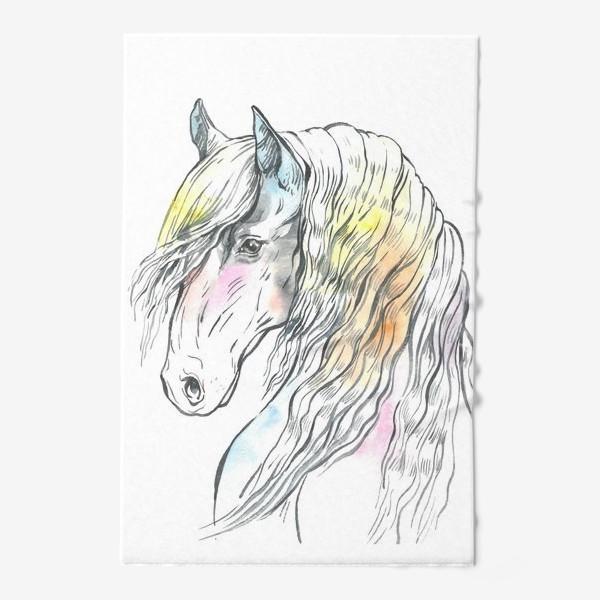 Полотенце «Конь фриз пастельный»