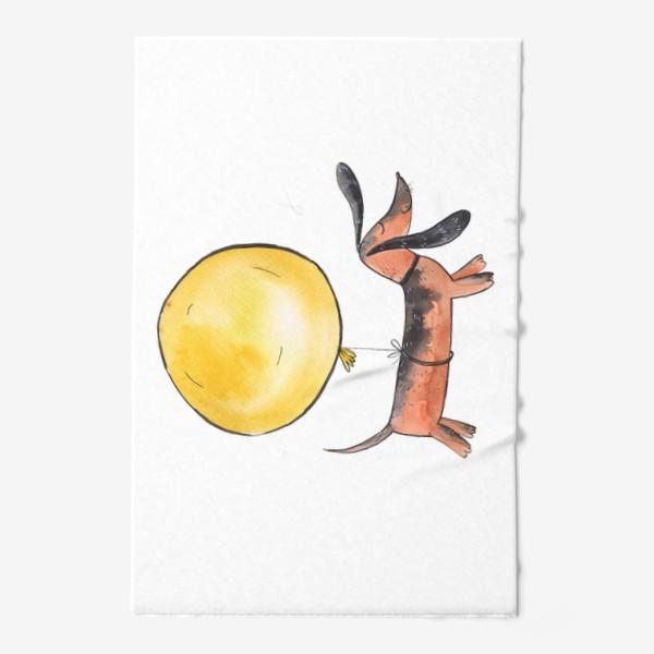 Полотенце «Такса с шариком»