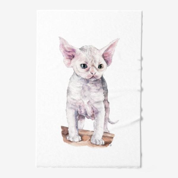 Полотенце «белый котенок девонрекс»