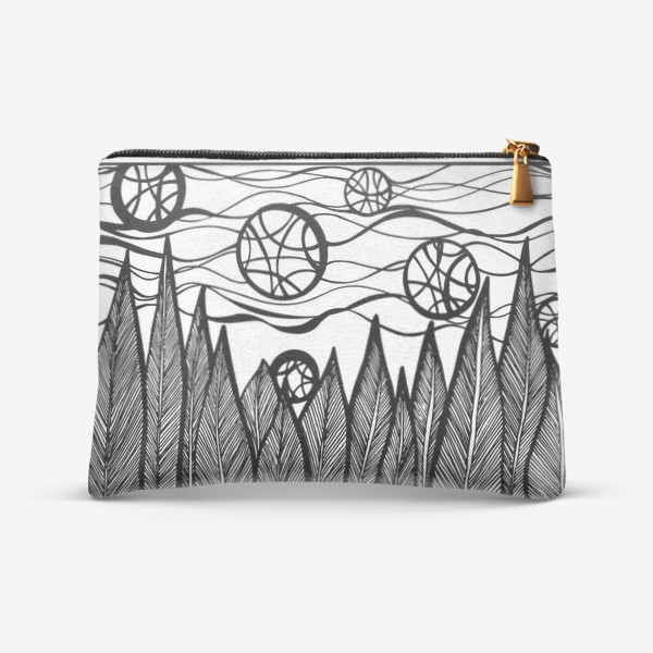 Косметичка «Космический лес»