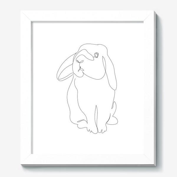 Картина «Кролик. Графика. Линейный рисунок»