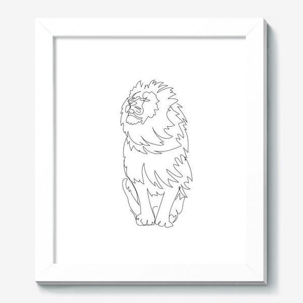 Картина «Лев. Графика. Линейный рисунок»