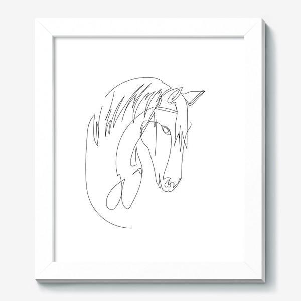 Картина «Конь. Графика. Линейный рисунок»