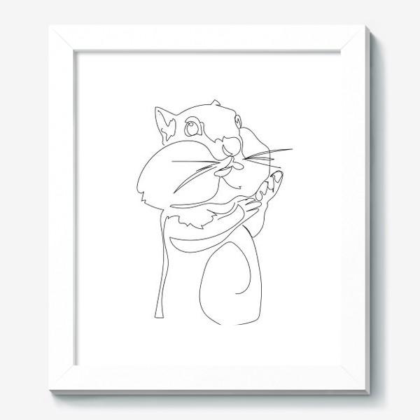 Картина «Хомяк. Графика. Линейный рисунок»
