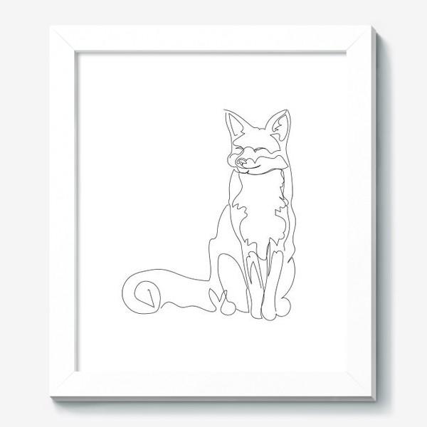 Картина «Лиса. Графика. Линейный рисунок»