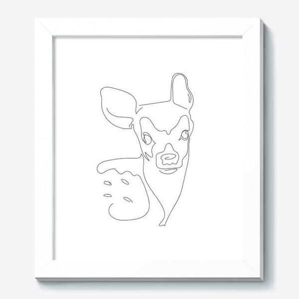 Картина «Олененок. Графика. Линейный рисунок»