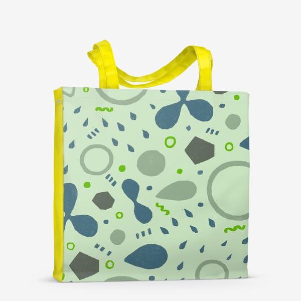 Сумка-шоппер «Сине-зеленая абстракция»