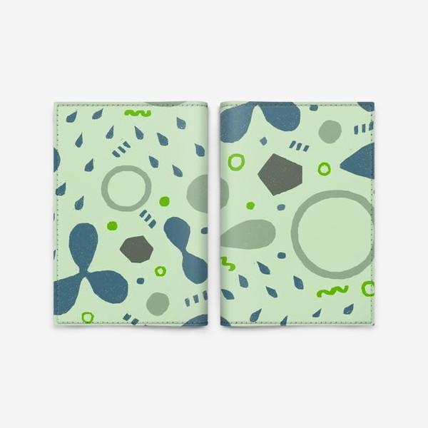 Обложка для паспорта «Сине-зеленая абстракция»