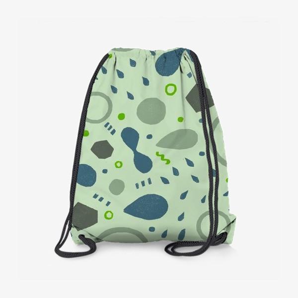 Рюкзак «Сине-зеленая абстракция»