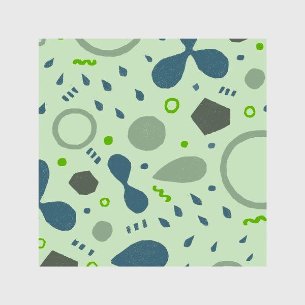 Шторы «Сине-зеленая абстракция»