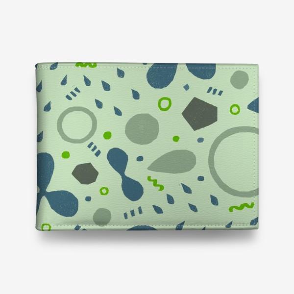 Кошелек «Сине-зеленая абстракция»