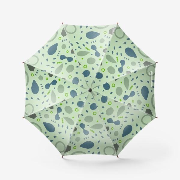 Зонт «Сине-зеленая абстракция»