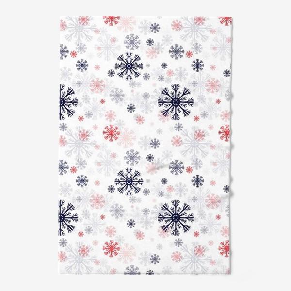 Полотенце «Цветные снежинки»