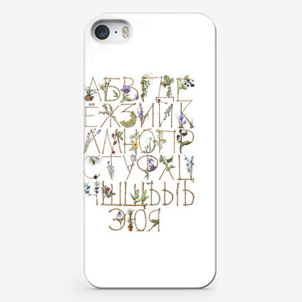 Чехол iPhone «Ботанический алфавит»