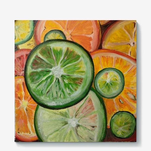 Холст «Лимон и апельсин»