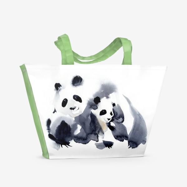 Пляжная сумка «ПАНДЫ»