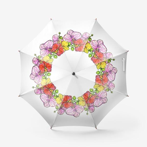 Зонт «венок орхидей»
